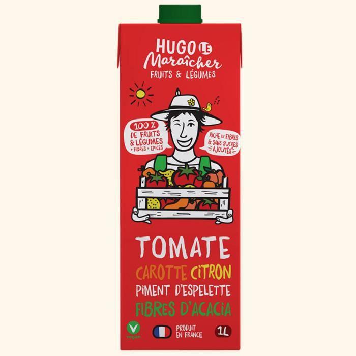 Hugo Le Maraîcher - Jus de Fruits & Légumes Tomate Carotte Piment 1L