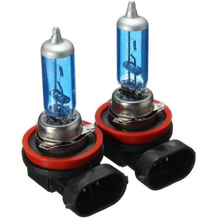 JL Led Ampoules H8 - H11 - Azul 2X H1 H3 H4 H7 H8 - H11 H13 9006 Phare Antibrouillard Remplacement Halogène Am...... -
