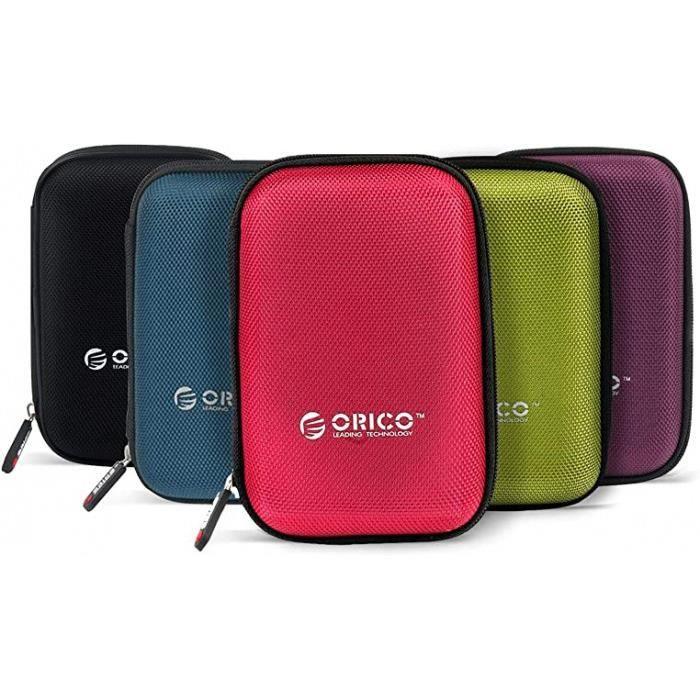 housse pour disque dur externe portables de 2,5 pouces - sac étui de protection pour western digital wd seagate toshiba samsung maxt