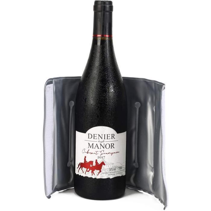 Rafraîchisseur pour bouteille de vin, manchon de refroidissement rapide et actif pour vin Champagne, cadeaux et accessoires de v,10