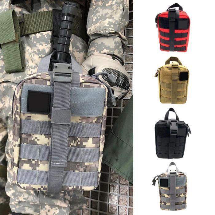 Sac médical tactique amovible voyage trousse de premiers soins Kits de survie d'urgence pour sac à dos ceinture Camping randonnée