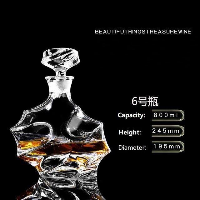 Bouteille de vin rouge en verre de cristal + tasses, carafe à vin, whisky Liqour verseur, Bar à domicile, bouteille de b*DE8096