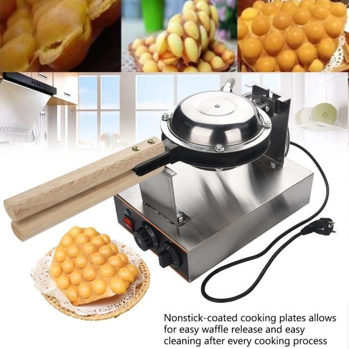 Drfeify 220V 1.4KW Gaufrier Electrique Oeuf Gâteau Four QQ Egg Waffle Baker Maker Machine -OLL