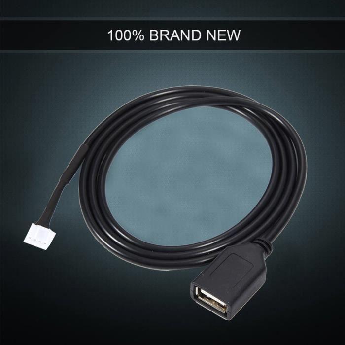 câble USB de voiture pour Peugeot Câble adaptateur USB d'interface autoradio avec outils de retrait pour Peugeot 307 citroën C2