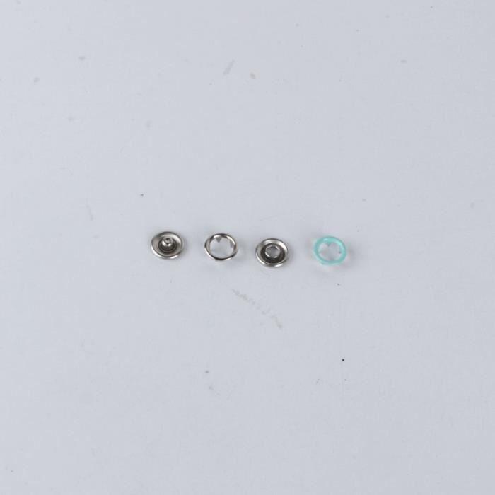 Fermeture Boutons,Boutons pression ensembles ton argent pas de coudre anneau ouvert bouton pression boutons de - Type 1- 10sets