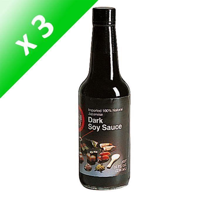 [LOT DE 3] SUSHI CHEF Sauce Soja Noire - 296 ml