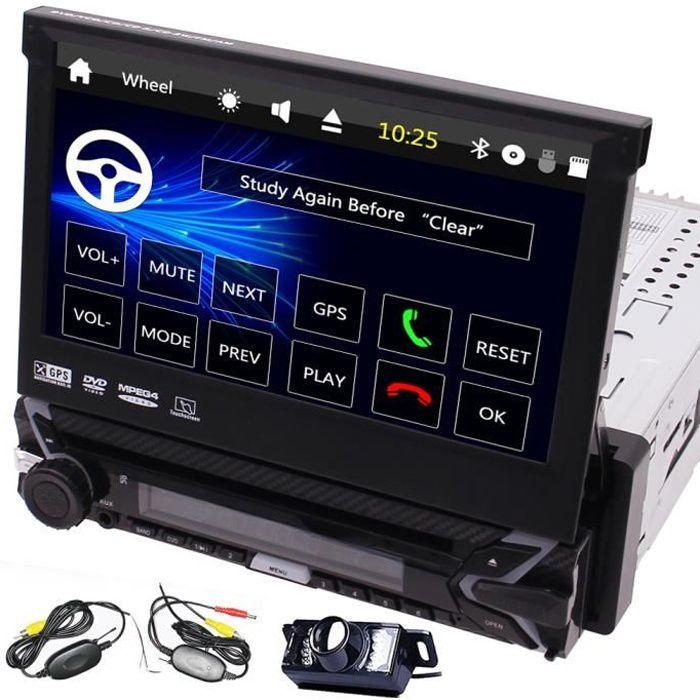 EINCAR AUTORADIO GPS simple Din Radio 7 pouces voiture lecteur DVD au tableau de bord panneau amovible pour Anti-vol Head Unit 1