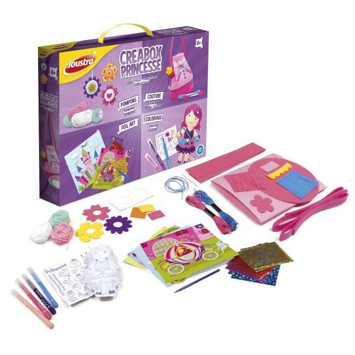 JOUSTRA - Créabox Princesse - Un coffret créatif des petites princesses avec plein d'activités !