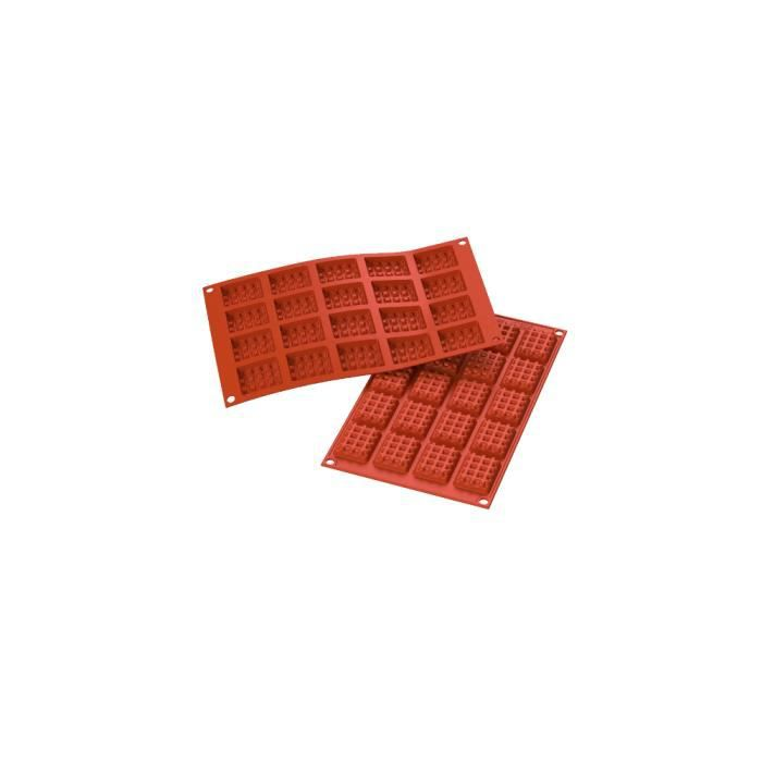 Moule silicone mini gaufres ou tablettes chocolat rectangle