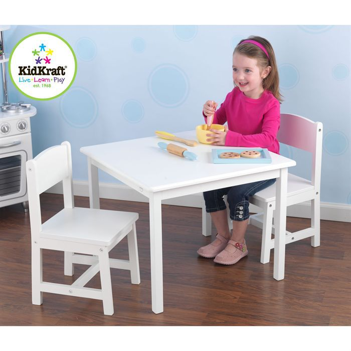 Aspen Ensemble Table et Chaises Blanc