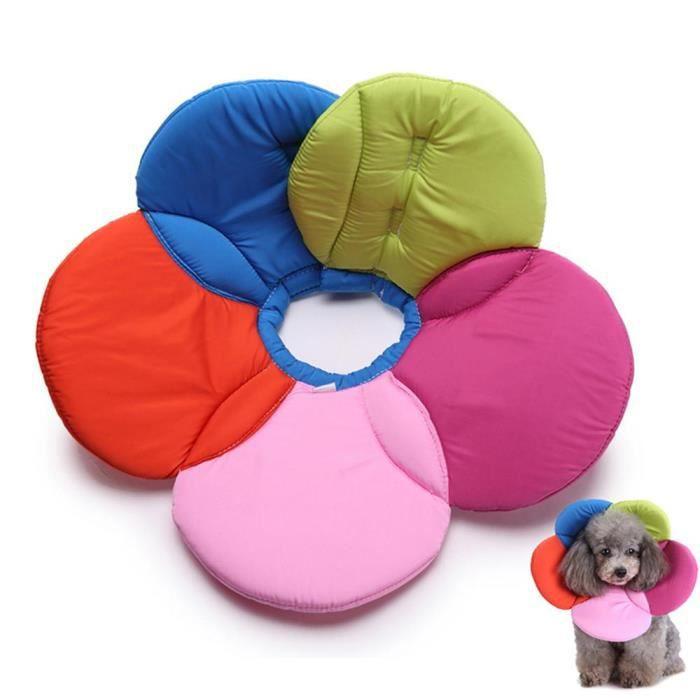 collier de convalescence pour chiens et chats en forme de pétale taille S