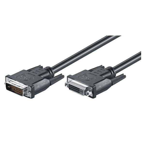 M-Cab DVI-D M-F 3m, 3 m, DVI-D, DVI-D, Mâle, Femelle, Nickel