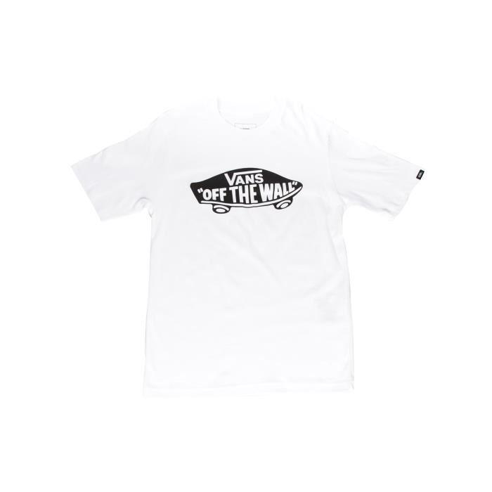 Tee shirt Enfant Vans Off The Wall Blanc-Noir