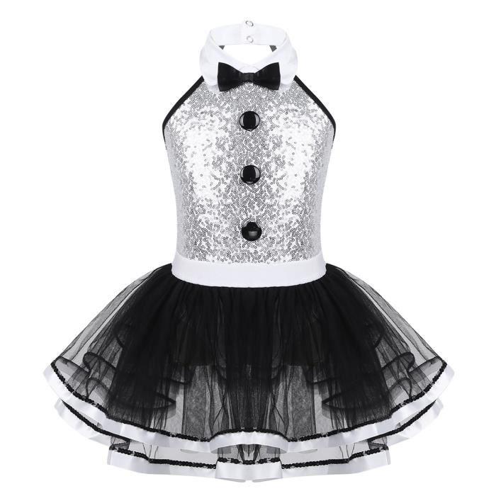 Robe Danse Classique Fille Paillette Tutu Ballet Costume Danse Moderne Jazz Hip Hop Dancewear 4-12 Ans