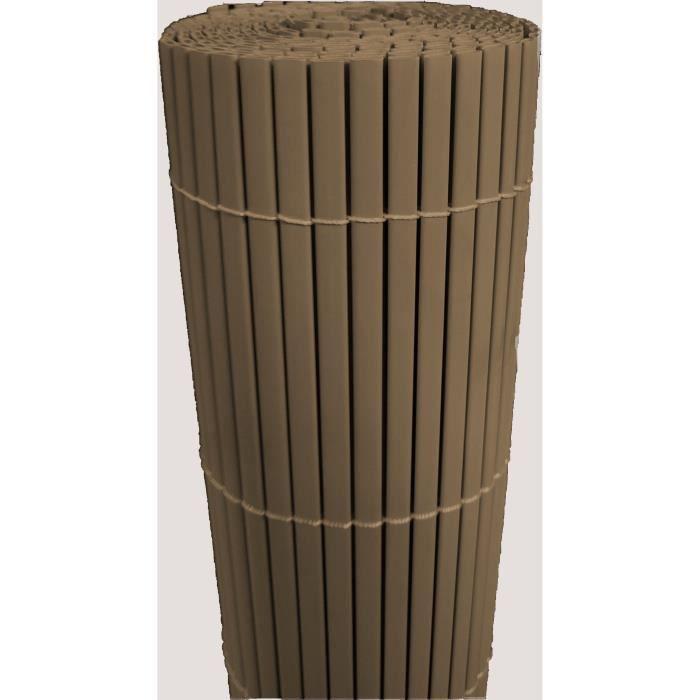 IDEAL GARDEN Canisse en PVC - Double Face 10 mm - 1,5 x 3 m - Chocolat