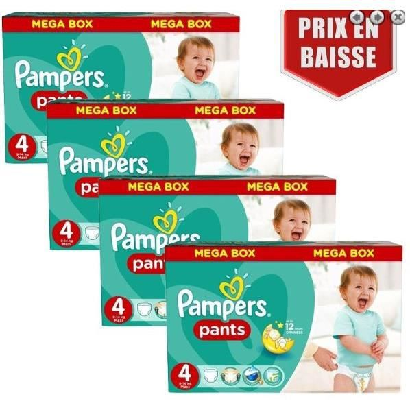 820 x couches bébé Pampers - Taille 4 baby dry pants
