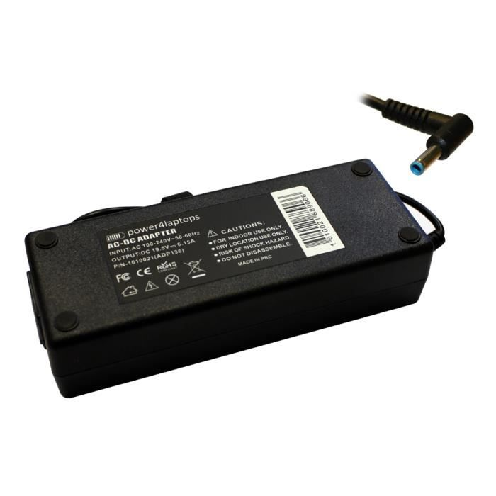 HP Envy 17-r118nf Chargeur batterie pour ordinateur portable (PC) compatible