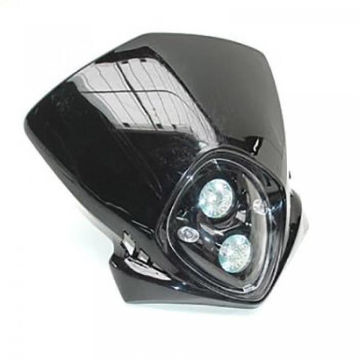 Plaque phare Universel pour Tous cc de Tous a NC 1106 etat Tete de fourche replay Duke double halogene 2X20W noir livré avec f...