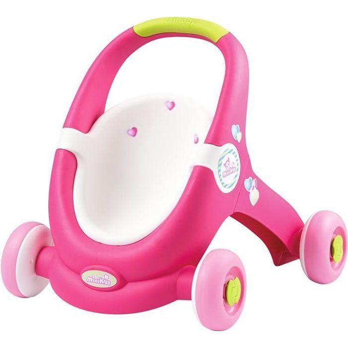SMOBY Minikiss BabyWalker Porteur Poussette Poupon