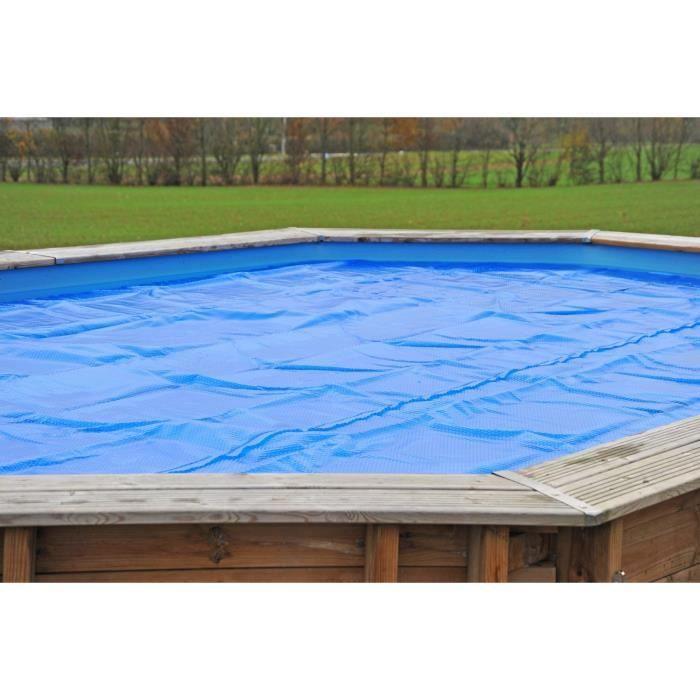 SUNBAY Bâche été à bulles pour piscine carrée en bois Carra - 3 x 3 x 1,20 m