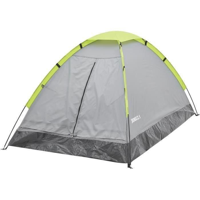 Tente de camping 2 places SURPASS SURPTENT201 Vert et Gris