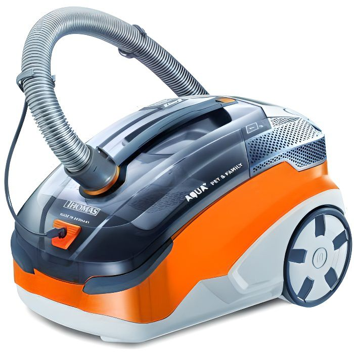 Thomas 788568 Aqua+ Pet & Familly Aspirateur sans Sac Orange/Gris 48,6 x 31,8 x 34,7 cm