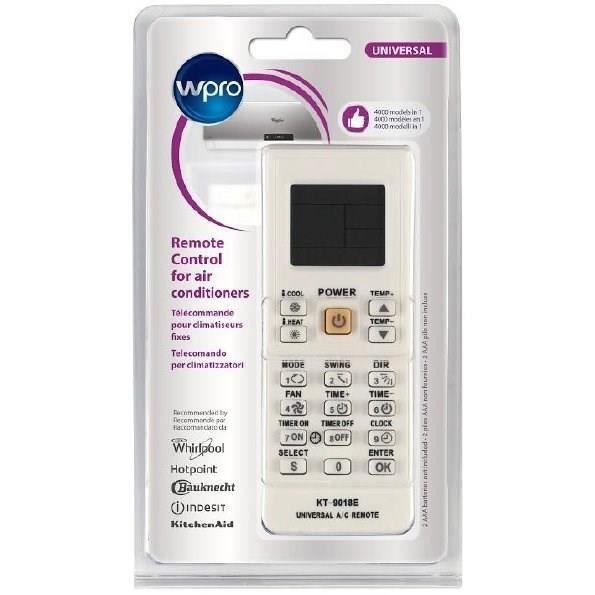 Wpro ARC201 - Télécommande universelle pour climatiseurs fixes. Adaptable sur plus de 4000 modèles. 9 fonctions