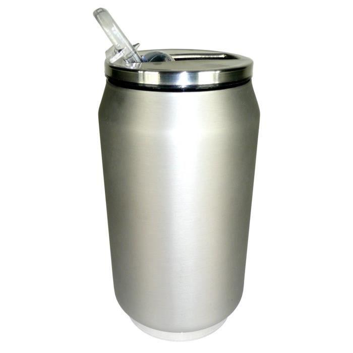 YOKO DESIGN Canette isotherme 280 ml - Inox mat