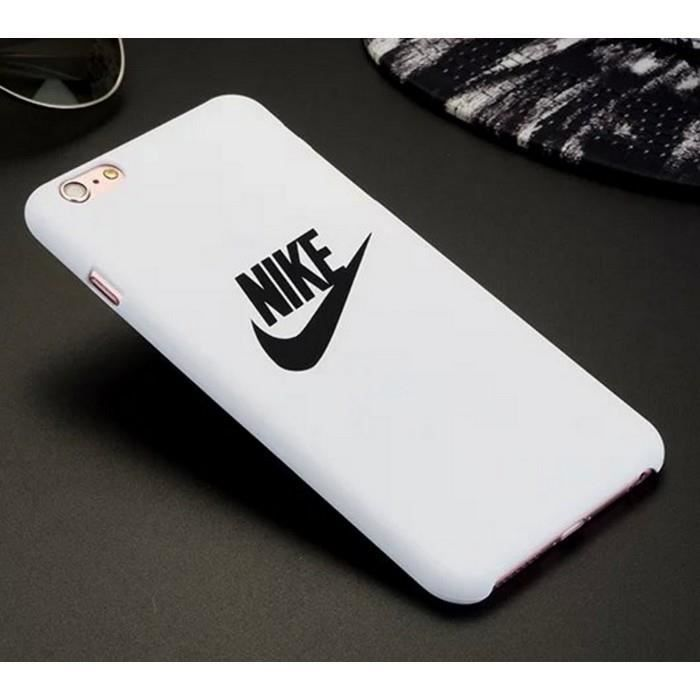coque rigide blanche nike pour iphone 6 6s achat coque. Black Bedroom Furniture Sets. Home Design Ideas