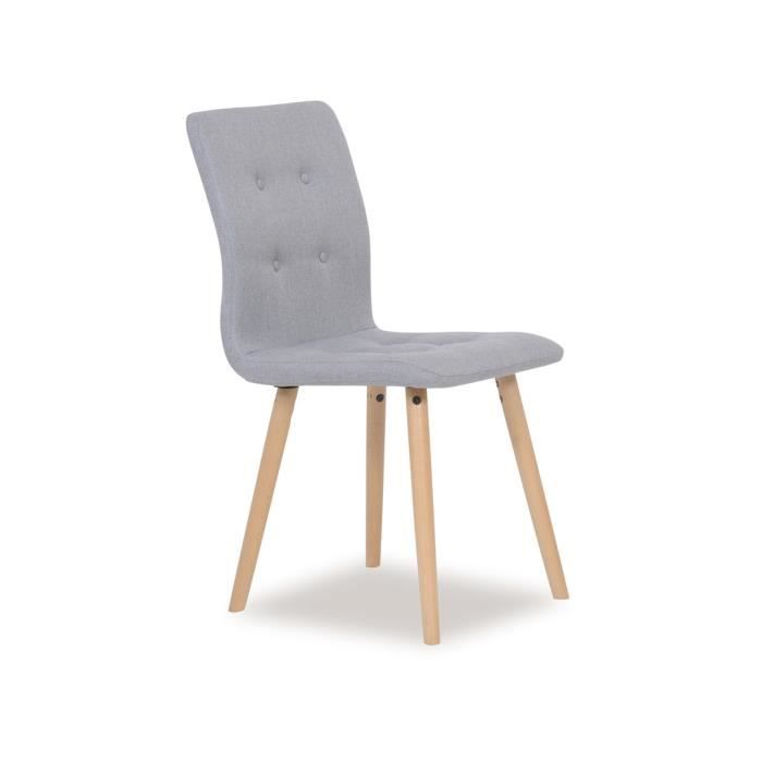 Lot de 2 chaises salle manger frida achat vente for Achat chaise salle a manger