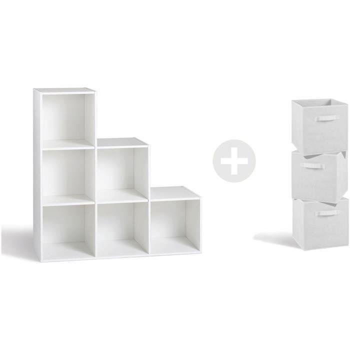 Meuble 8 Case Blanc Compo Achat Vente Pas Cher