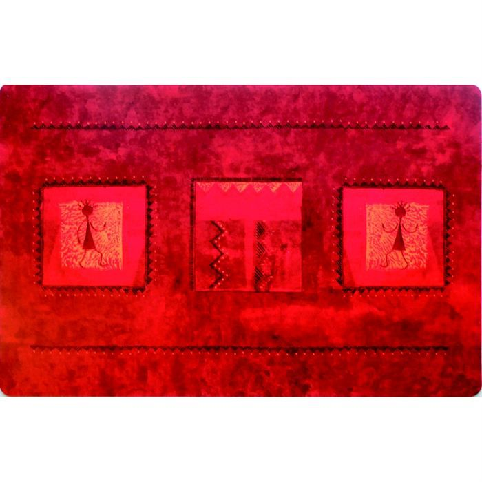 Set de table rectangulaire dido fonds rouge achat for Sets de table rigides