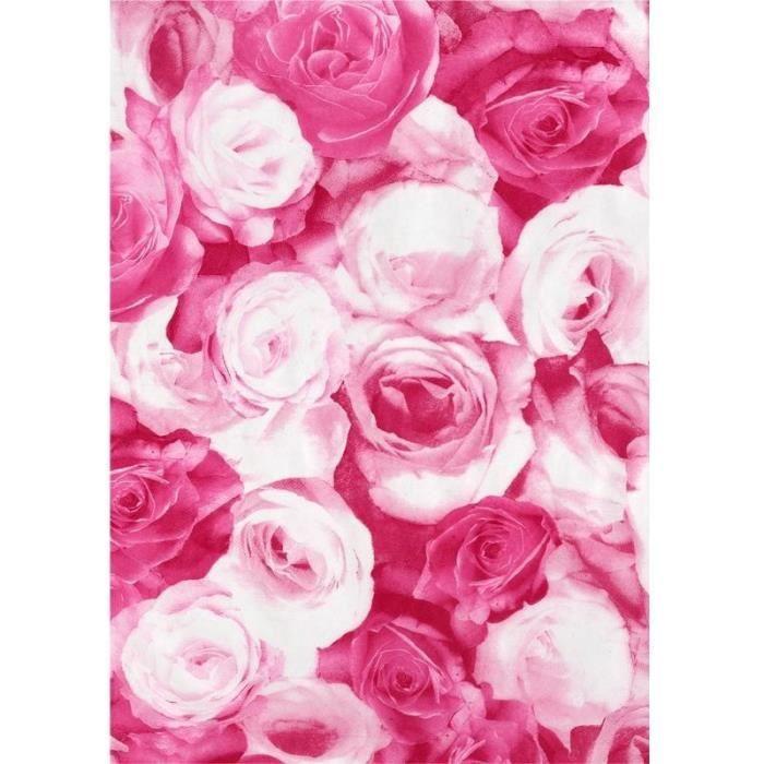 Kit papier créatif Feuille decopatch n°573, Têtes de Rose, Papier 30x
