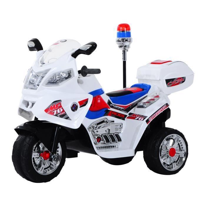 Moto Scooter Electrique Pour Enfants Modele Policier Fonctions Sirene Et Gyrophare Achat Vente Moto Scooter Cdiscount