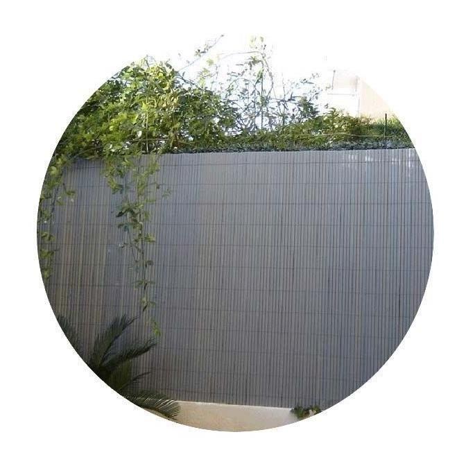 CLÔTURE - GRILLAGE Canisse PVC Gris Perle à double face H 1,50m X 3m