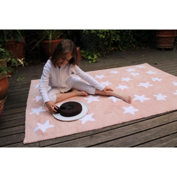 tapis de sol enfant 120x160 cm saumon toiles b achat. Black Bedroom Furniture Sets. Home Design Ideas