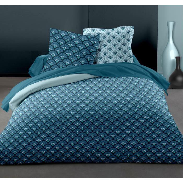 Couleur Turquoise Drap House Housse de Couette Percale 220x240