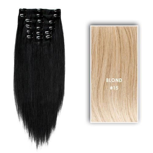 extensions clips synth tiques 70 cm blond achat vente perruque postiche extensions. Black Bedroom Furniture Sets. Home Design Ideas