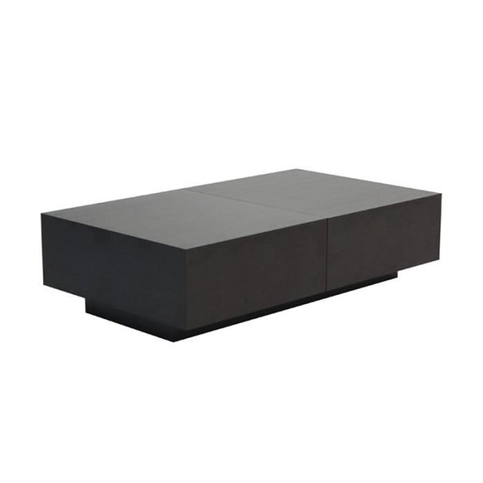 table basse coffre plateau coulissant ch ne noir achat vente table basse table basse coffre. Black Bedroom Furniture Sets. Home Design Ideas
