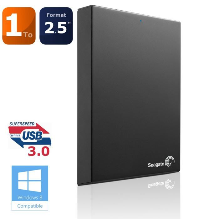 DISQUE DUR EXTERNE Seagate Expansion 1To USB3.0 Noir 2.5""