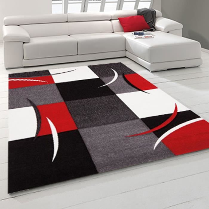 Tapis moderne diamond comma rouge 80x300 par achat vente tapis cd - Tapis rouge de salon ...