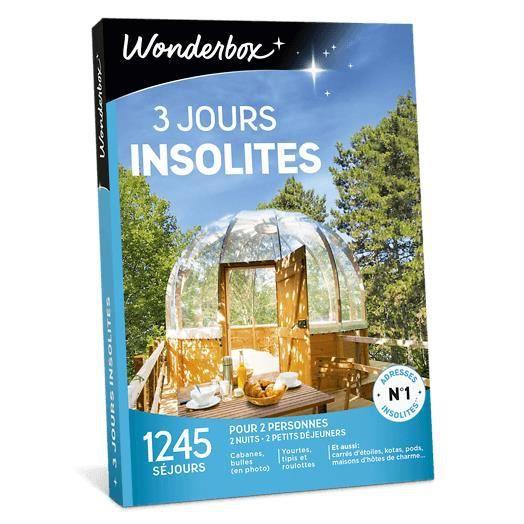 COFFRET SÉJOUR Wonderbox - Coffret cadeau pour deux - 3 Jours ins