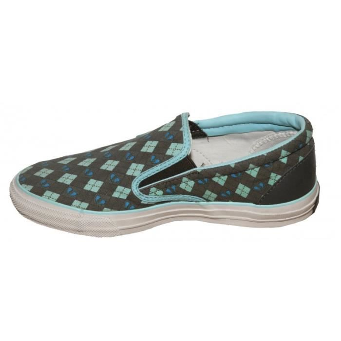 Converse Skateboard Skid Grip Ev Slip On Cyan/Olive Slip On shoes [41.5]