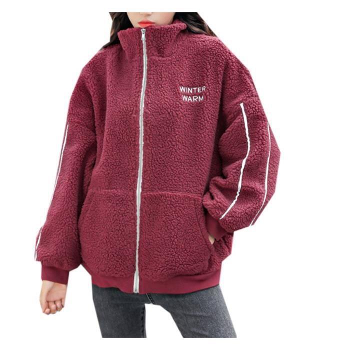 manteau - caban - pardessus Femmes Casual Lettre en vrac Imprimer poches manteau Tops ChemisierPYJ91018047WES_xiaoxinlaian