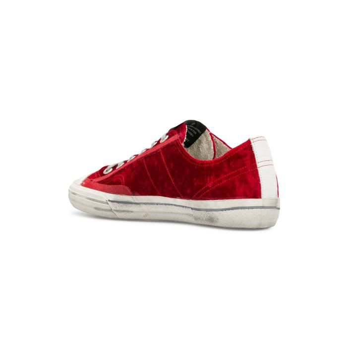 CUIR HOMME GOOSE ROUGE GOLDEN G32MS639R1 BASKETS vI4xg5