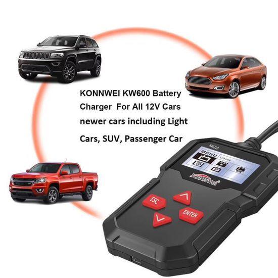 KONNWEI KW210 12V Automobile Testeur de Batterie de Voiture Num/érique Multi-langue Analyseur Testeur Outil