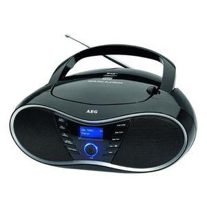 RADIO CD CASSETTE AEG SR 4380 DAB + Radio CD stéréo Noir Avec lecteu