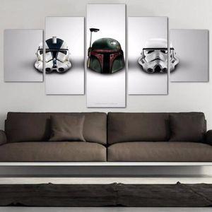 TABLEAU - TOILE lingzhishop,56593-(Pas de cadre)5 pièces Star Wars