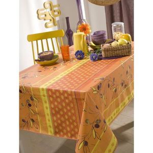 Toile ciree orange achat vente toile ciree orange pas - Toile ciree table ronde ...
