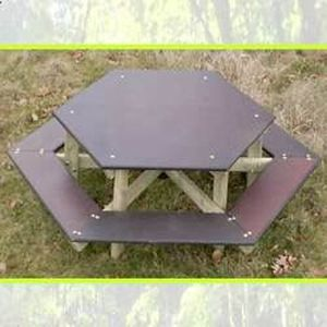 Table banc hexagonale enfant - Achat / Vente ensemble table ...